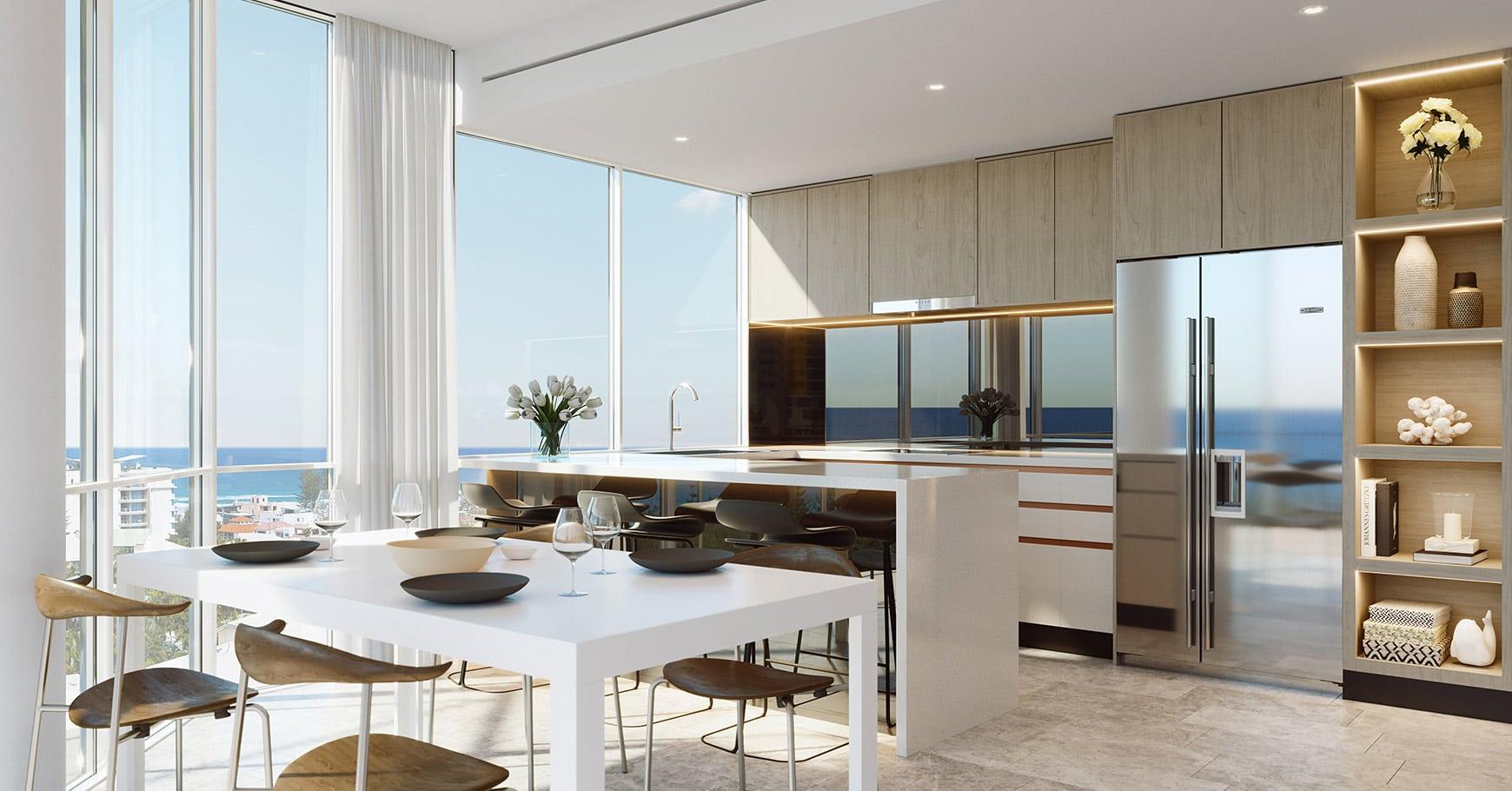 Real Estate   Gold Coast   Chevron Realty   Naia Mermaidbeach 0001 E11 3bb Livingkitchen 05