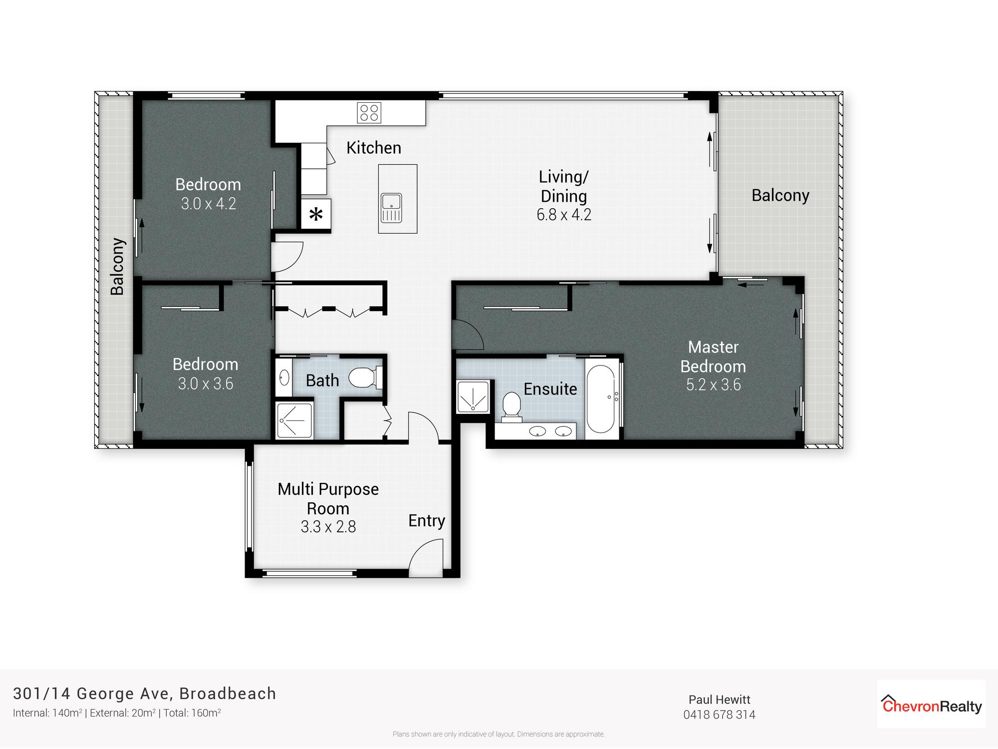 Real Estate | Gold Coast | Chevron Realty | Floor Plan